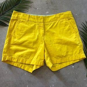 J. Crew | Chino Yellow Shorts Size 6